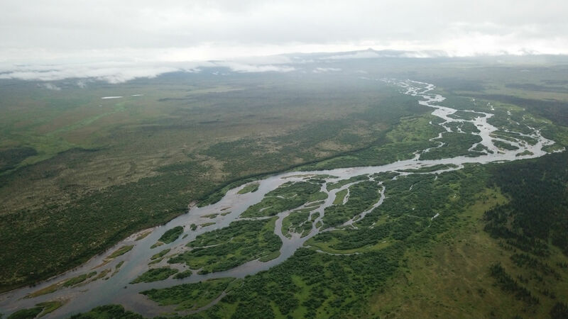 Aerial View of the Alagnak River