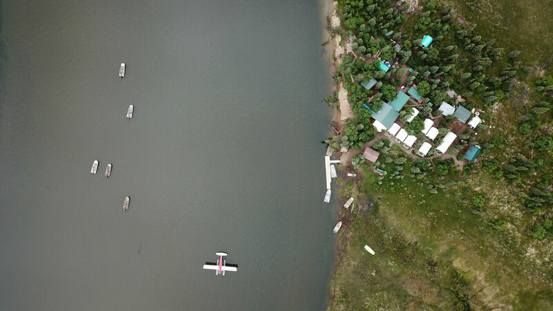 Angler's Alibi Aerial Photo of Camp